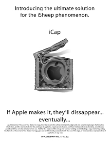 """""""Apple condom"""", iCap"""